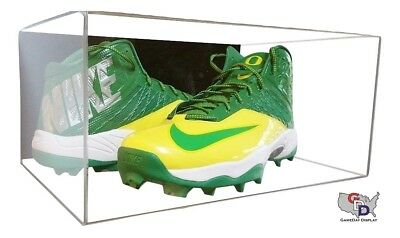 Shoe Wall Mount Acrylic Display Case Large size 17 UV Pair Basketball Football D
