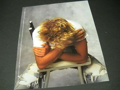 ROD STEWART with head completed bowed down 1988 PROMO POSTER AD mint condition