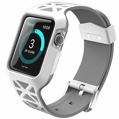 Apple Watch 42mm Case Bumper Sporty High-grade Soft Shock Proof Slim Fit White