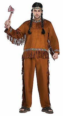 Adult Native American Indian Warrior Brave Costume