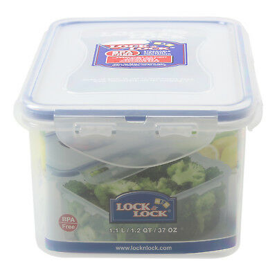 Lock & Lock 1.1 Litre High Quality Rectangular Storage Airtight Food Container