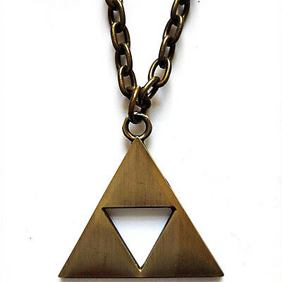 Legend Of Zelda: A Link To The Past Bronze Triangle Pendant Necklace