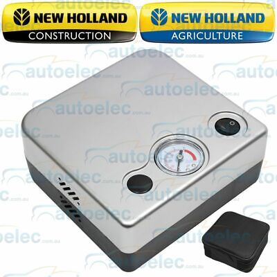 New Holland Compact 12V Volt Air Compressor Inflator & Deflate Tire Tyre Car 4Wd