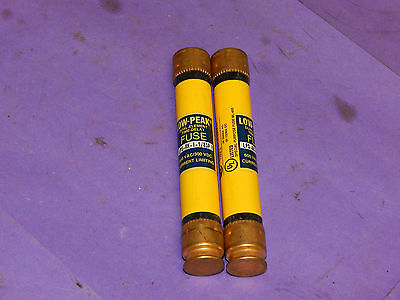 Lot of 2 Bussmann LPS-RK-1-1/8SP Low-Peak Fuses 1-1/8Amp 600Volt LPSRK11/8SP