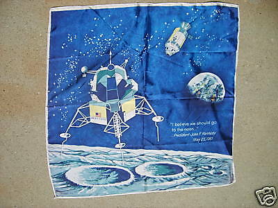 APOLLO 11 Moon Landing Scarf- Signed/ Dated 1969- NEW