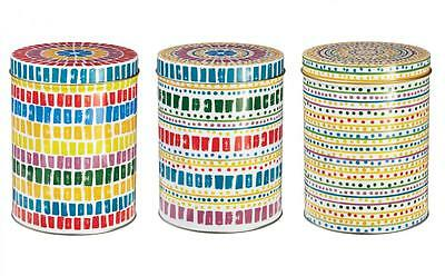 Seville Design Set of 3 Tea Coffee Sugar Food Storage Canister Tin Box