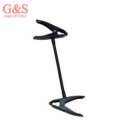 Photo light stand clamp with flex arm Beak clip