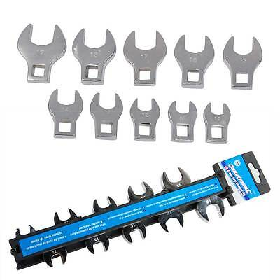 Silverline Crows Foot Spanner Set Metric 10 Pce 10-19mm for Ratchet Wrench Tools