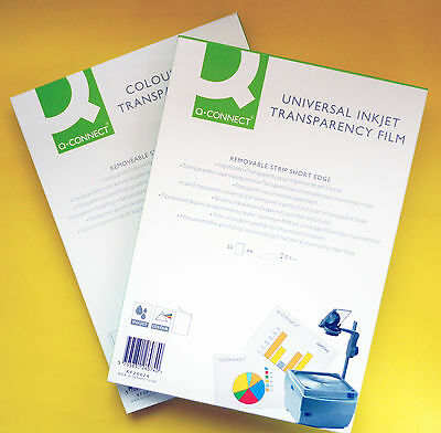 Quality OHP Film - INKJET or LASER Printable A4 CLEAR ACETATE Transparent Sheets
