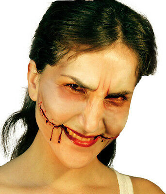 Face Wound Smile Latex Scar Application Gruesome Halloween Horror