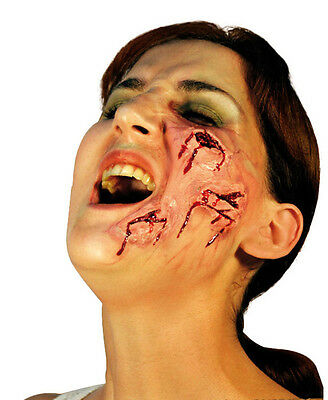 Face Wound Cuts Latex Scar Application Gruesome Halloween Horror