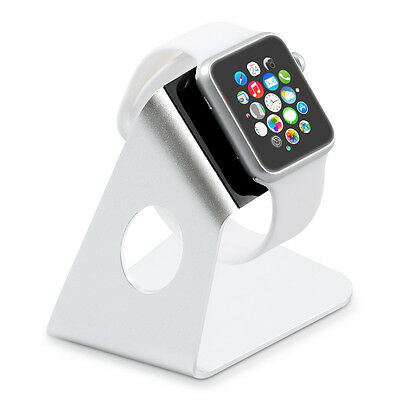 kwmobile  ALUMINIUM CHARGING DOCK FOR APPLE WATCH SILVER HOLDER DOCKING