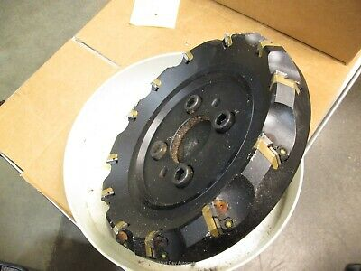 "Sumitomo UFO 410R Indexable Shell Mill 10"" Cutting Diameter 12 Teeth w/ Coupler"