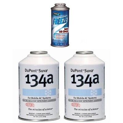 2x DuPont Suva R-134a 1x Johnsen's Ester Oil Charge AC Recharge Kit