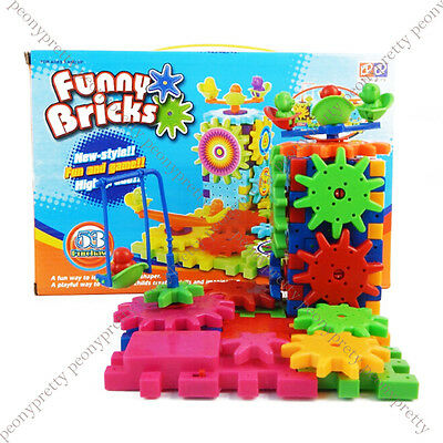 Funny bricks moving gear playground educational building block toy birthday gift