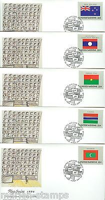 United Nations Wfuna Federico Fellini Designed Set Of 16 1986 First Day Covers