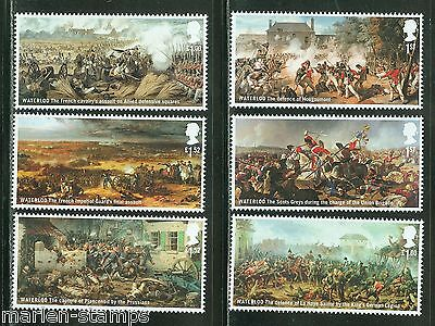 Great Britain 2015 Battle Of Waterloo  Set Of Six Stamps Mint Never Hinged