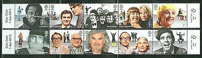 Great Britain 2015 Comedians  Set Of Ten Stamps Mint Never Hinged