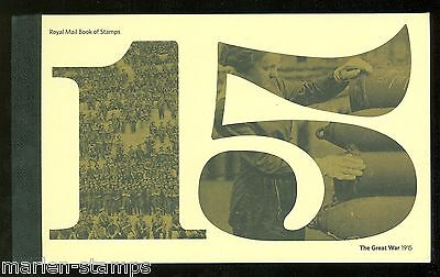 Great Britain 2015 World War I  Cpl Prestige Booklet   Mint Never Hinged