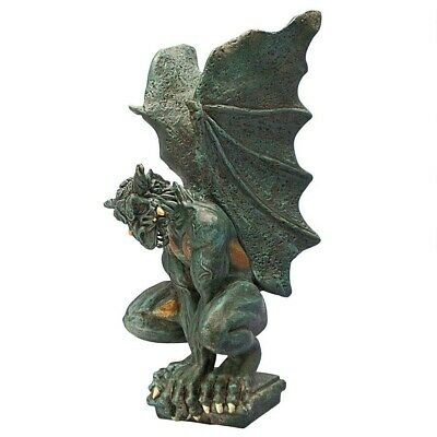 Medieval Fierce Dark Gargoyle Sculpture Gothic Statue