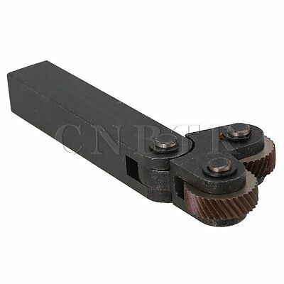 Dual Wheel 2.0mm Pitch Diagonal Linear Knurling Tool for Lathe 26 x 8mm Cutter