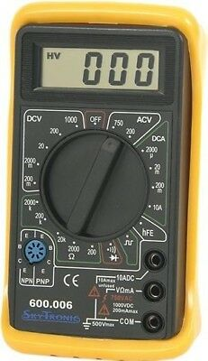 W4 Digital Multi-Tester   Tests ACDC Voltage DC Current Resistance Auto-Zeroing