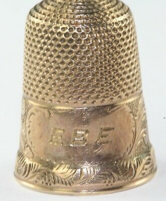 Victorian Antique Fancy Design Thimble 4.1 Grams