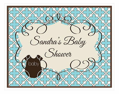 Personalized Blue Baby Theme Sign Baby Shower Decoration