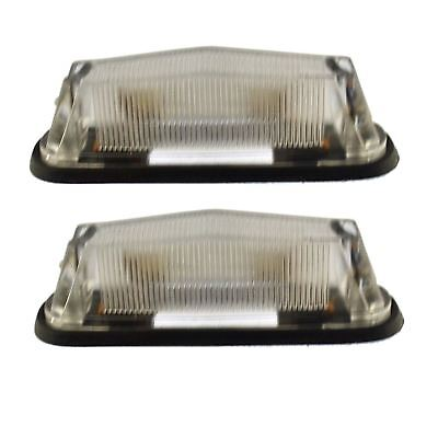 Trailer Mini Front Marker Light Clear White Caravan PAIR TR185