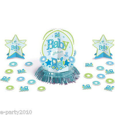 BABY SHOWER Welcome Little One BOY TABLE DECORATING KIT (23pc) ~ Party Supplies