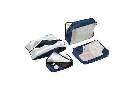 IKEA 4x Travel Bag Packing Bag Organiser Clothes Shoe Case Luggage Dark Blue