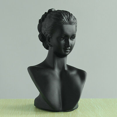 """Jewelry Display Stand Bust Holder for Necklace Earrings Women  Shape 8x5"""""""
