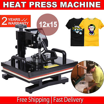 "Digitaltransfer Sublimation T-Shirt HitzePresse Maschine 15"" x 12"" Abschwenkbar"