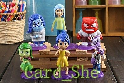 2015 Movie Inside Out 6 PCS Figure Playset Toys Pixar Anger Disgust New