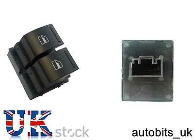 Electric Window Switch Driver Side For Vw Golf Mk5 Caddy Passat B6 Jetta Eos