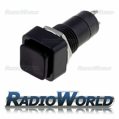 Black OFF-ON Latching Square Push Button Switch SPST 12v Car Dashboard Horn Boat