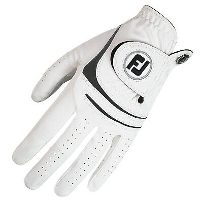 Footjoy Mens Weathersof Gloves Left Hand - White All Weather Leather Glove 2015