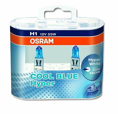 Osram H1 12v 55w Cool Blue Hyper 5000k Xenon Effect 62150CBH (Twin Pack)