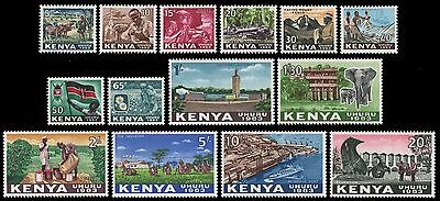 Kenia 1963 - Mi-Nr. 1-14 ** - MNH - Freimarken / Definitives