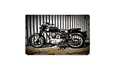 1960 royal enfield clipper Bike Motorcycle A4 Retro Metal Sign Aluminium