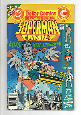 Superman Family Vol 1 No 183 Jun 1977 (VFN+)80 Page Dollar Comic,All New Stories