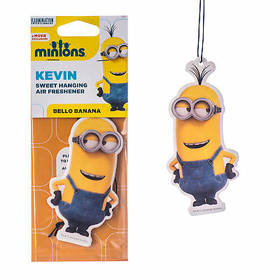 Despicable Me MINIONS Car Home 2D Air Freshener Freshner Scent KEVIN