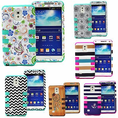 For Samsung Galaxy Note 4 5 Phone Hybrid Armor Shockproof Impact Hard Cover Case