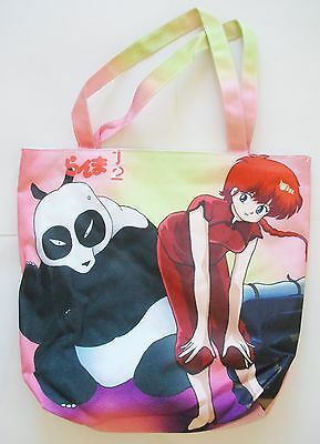 Anime Tote Bag ~Ranma 1/2 Characters Multi Purpose Book Bag Purse #1