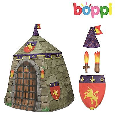Childrens kids CANVAS playtent knight castle garden outdoor indoor playhouse