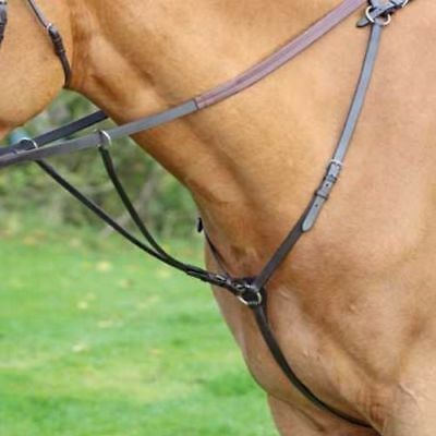 SHIRES AVIEMORE HUNT WEIGHT BREASTPLATE 5024 horse pony leather breastplate