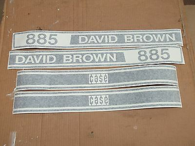 Case David Brown  885 Tractor Decals Hood Only. Vinyl!!   See Details Pictures