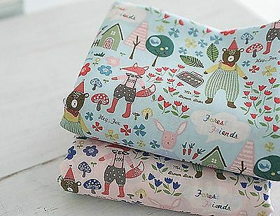 Forest story 100% Cotton Fabric Animal forest Quilting Fabric off cuts (ff173)=