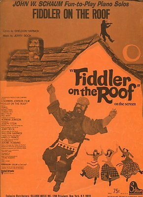 Fiddler on the Roof Sheet Music Piano Play-Along Book and CD NEW 000311887