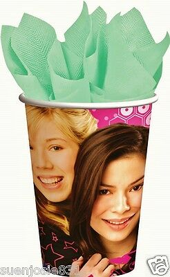 Disney iCarly 9oz Hot Cold Paper Cups 8pcs Party Supplies